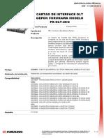 Cartao de Interface Olt Epopn Furukawa 20km Modelo Fk-olt-20-2