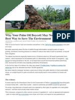 Palm Oil Sustainability IUCN Nov 2018