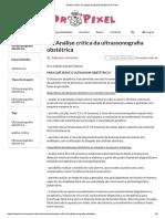 Análise Crítica Da Ultrassonografia Obstétrica Dr Pixel