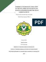 Teknik Pemeriksaan Radiografi Ankle Joint Pada Kasus Trauma Di Instalasi Radiologi Rsup Dr. Hasan Sadikin Bandung