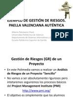 Ejemplo de Gestión de Riesgos - gestion de proyectos