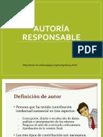 6 Autoría Responsable