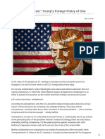 Texto Recomendado Fpif.org-Call It Unileaderism Trumps Foreign Policy of One (1)