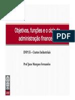 01 ENP155 Objetivos, Funções e o Ciclo Da Administração Financeira