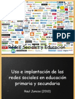 Uso e Implantacion de Las Redes Sociales en Educacion