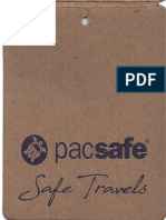 PacSafe Bag Features