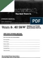 Browning 1935 HighPower Pistol Manual