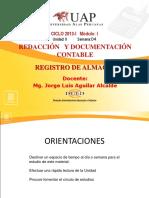 Ayuda 4- Registro de Almacén