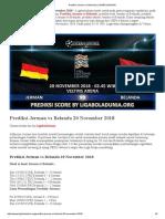 Prediksi Skor Jerman vs Belanda