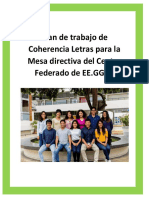 Plan de Trabajo-coherencia Universitaria Letras 2019
