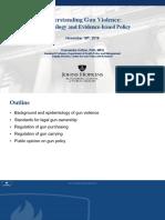 Understanding Gun Violence presentation