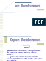 1 5 Open Sentences
