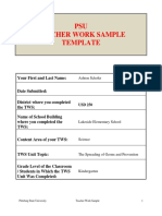 work sample official