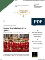 Apocalipsis Mariano - Ataque Despiadado Contra La Iglesia