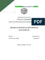 Nicola Atzori_tesi Misure Acustiche Diffusori Hi-fi