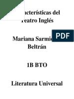 Características Del Teatro Inglés