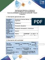 Guía de Actividades y Rubrica de Evaluación - Fase 3 - Proyecto 2. Nutrición.