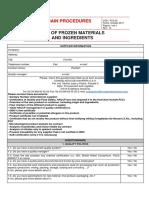 Suppliers Homologation Questionnaire REV 13