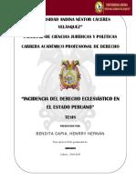 """""""Incidencia Del Derecho Eclesiástico En"""