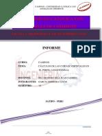 Informe de Caminos 005 Cálculos de Las Curvas Verticales en El Perfil Longitudinal Lu