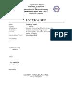 Locator Slip