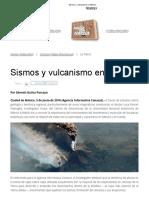 Sismos y Vulcanismo en México