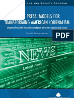 Of the Press Models for Transforming American Journalism