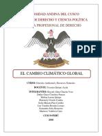 Los Aspectos Científicos Del Cambio Climático-monografia