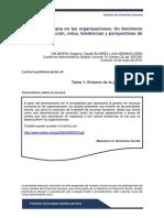 Lectura de Calderón, Alvarez y Naranjo (2006) sobre la gestión del potencial humano