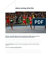 Using Lean Problem Solving at the Rio Olympics