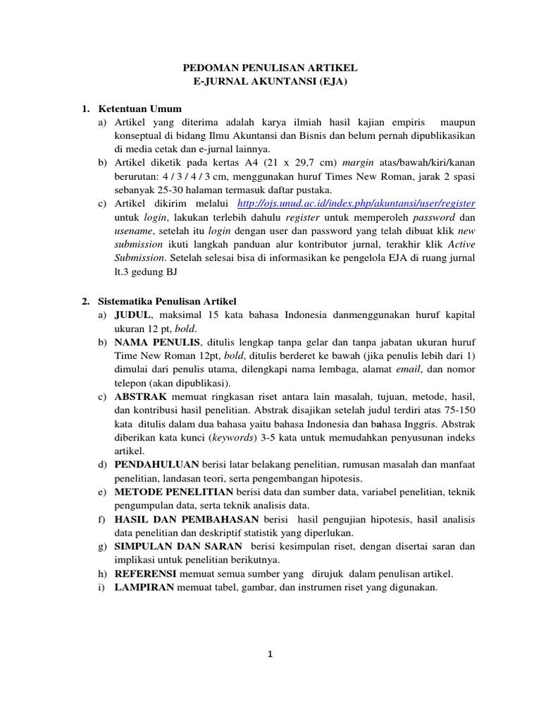 Selingkung E-Jurnal Akuntansi