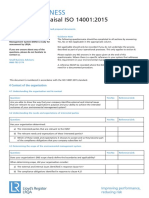 9858 Iso 140012015 Self Appraisal Questionnaire