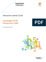 0580 Maths Learner Guide