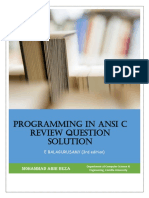 Solutions to ANSI C
