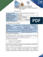 Guía de Actividades y Rúbrica de Evaluación - Fase 3 - Cálculo Del Radioenlace.