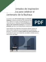 Papeles Pintados de Inspiración Geométrica Para Celebrar El Centenario de La Bauhaus