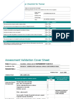Assessment Design Checklist for Trainer