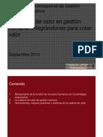 Cadena Del Valor en Rr Hh
