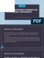 Positive Attitudes Towards the EFL Teaching Profession[1]