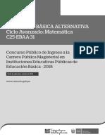 C25-EBAA-31 EBA Avanzado Matemática