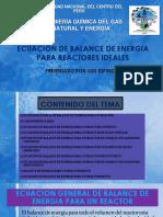 Ecuacion de Balance de Energia Para Reactores Ideales