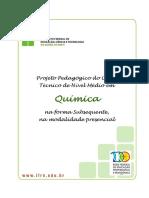 Projeto Pedagógico do Curso Técnico de Nível Médio em Quimica