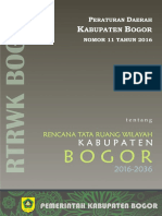 1. Perda Nomor 11 Tahun 2016 Tentang RTRW Kabupaten Bogor 2016-2036