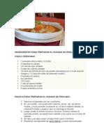 Sudado y Ceviche