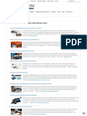 Arduino 3000 Projects List Ebook Duino4projects Arduino Electric Motor
