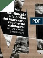 Contribucion a La Critica Del Marxismo Realmente Existente