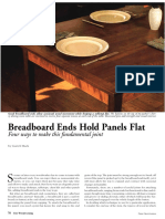 Bread Board Ends Hold Panels Flat
