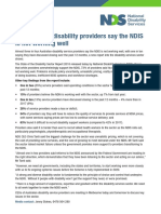 THREE IN FOUR DISABILITY PROVIDERS SAY THE NDIS IS NOT WORKING WELL