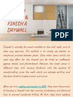 How to Install & Finish a Drywall