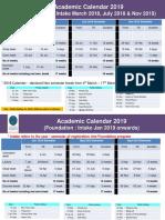 2019 Acad Calendar Senate Approved